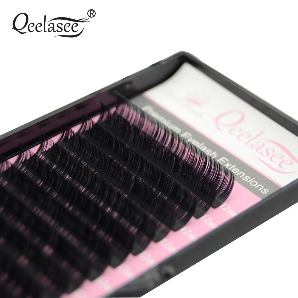 Image 3 - Qeelasee 4 cases 0.07 3D volume mink individual eyelash extension faux cils make up eyelashes maquiagem cilios Korea materialFalse Eyelashes   -