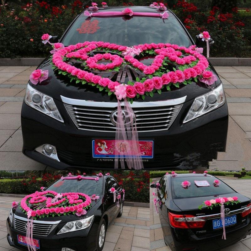 New Style Luxury Wedding Car Decoration Set Heart Love Wedding