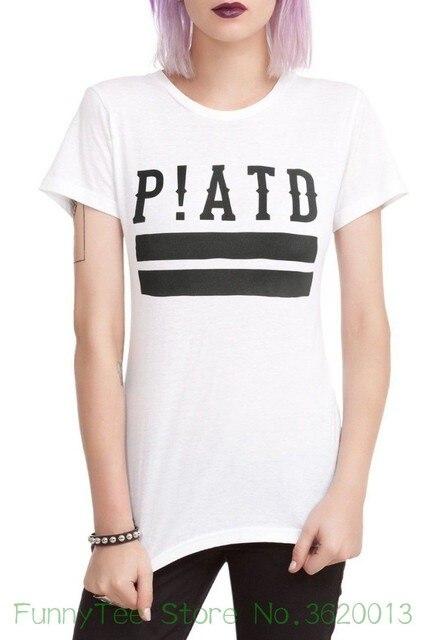 ace130edc38 Women s Tee Panic At The Disco P!atd Logo Girls Women s T-shirt New  Official Round Neck T Shirt