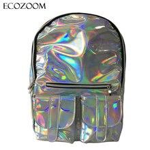 Новый Дешевый Gammaray рюкзак Женщины Серебряный Голограмма Лазерная сумка кожа PU Голографическая Рюкзак Многоцветная школьный