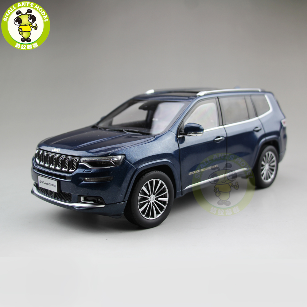 1/18 Jeep Grand Commander Fiat Chrysler Diecast Metal Car Suv Model Collection Gift Blue Color