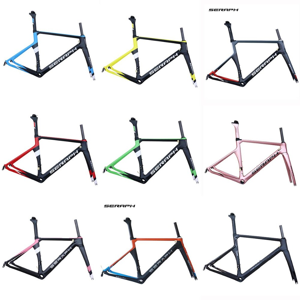 2019 New Paint 700C Road Bike Carbon Fiber Stiff Aero Racing Bicycle Frame+Fork+Seat Post+Clamp Frameset