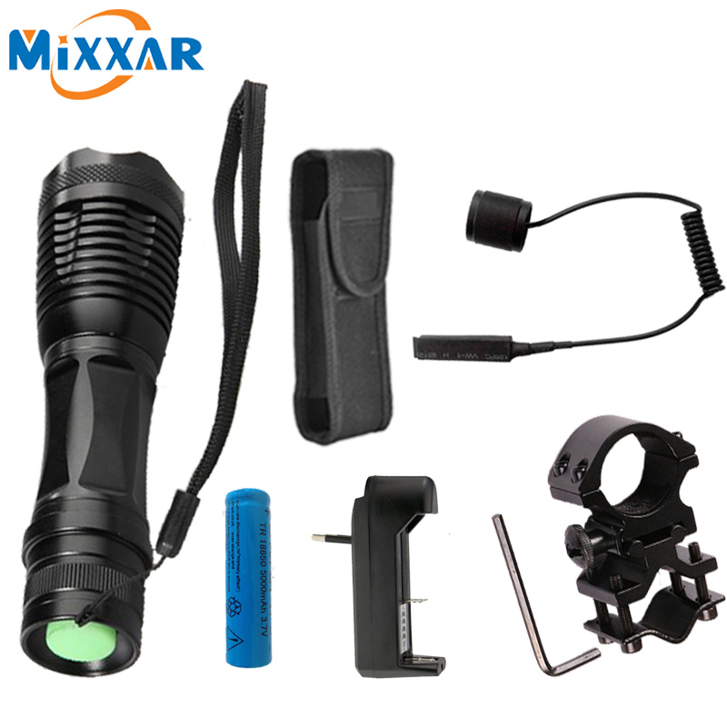 S LED Flashlight torch waterproof flashlights XM-L T6 L2 9500LM 5 mode led Zoomable light For 3x AAA or 3.7v 18650 Battery