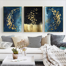 Wall Art Canvas Painting Animal Picture Poster Prints shoal of fish Home Decor No Frame 3pcs/set
