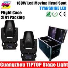 2IN1 Flightcase Упаковка 180 Вт Сид Наивысшей Мощности Moving Головной Свет 17CH DMX LED Движущихся Иго 3-гранной Призмы Электронных строб