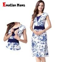 Emotion Moms summer Maternity Clothes Nursing pregnant dress Breastfeeding Nursing Clothes for pregnant women Maternity Dresses