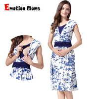 Emotion Moms Summer Maternity Clothes Nursing Pregnant Dress Breastfeeding Nursing Clothes For Pregnant Women Maternity Dresses
