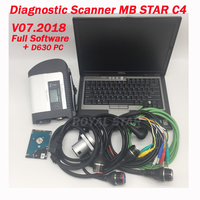 07.2018 newest obd2 device MB STAR C4 with HDD and D630 Laptop diagnostic scanner Mb star C4 for car/ truck ready to work