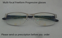 Photochromic Freeform Progressive Glasses Titanium Alloy Frame Photochromic Multi Focal Freeform Progressive Lens