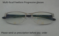 Photochromic Freeform Progressive Glasses Titanium Alloy Frame Photochromic Multi Focal Freeform Progressive Lens