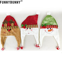 FUNNYBUNNY Christmas Headwear Cute Cartoon Santa Snowman Elk Hat Xmas Party Decor Birthday Gift for friends