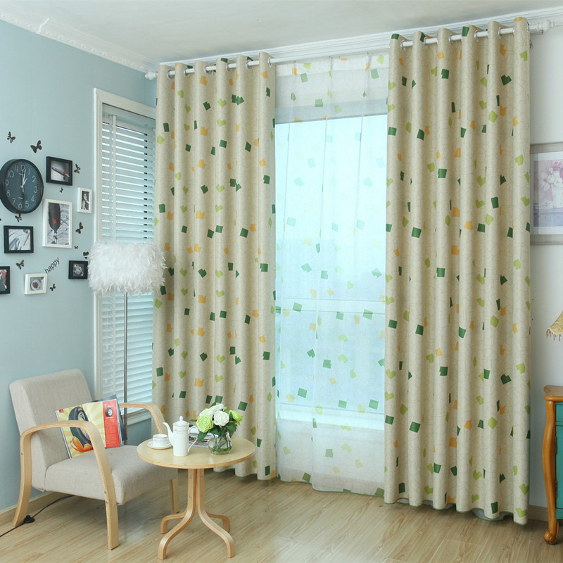 XYZLS 2017 New Small Cube Shade/ Screen Curtain Window Blackout Curtains  For Living Room Bedroom