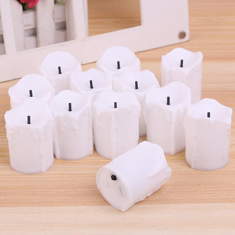 12 kom / puno LED električne baterije Powered Tealight svijeće - LED Rasvjeta - Foto 3