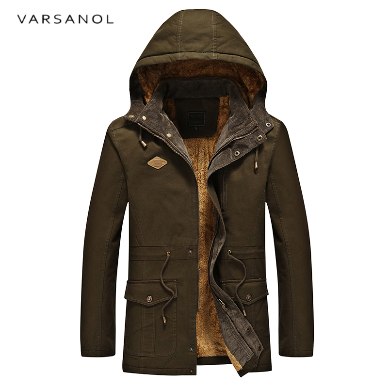 Varsanol Army Camouflage Jackets Men Military Warm Hooded Jacket Cotton Thick Casual Sol ...