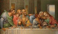 Special offer # TOP art Detail of the Da Vinci's The Last Supper by Giacomo Raffaelli, Vienna print painting free shipping