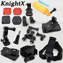 KnightX Head Strap For Gopro Hero Accessories Monopod Mount for go pro hero 6 5 4 3+ accessories for xiaomi yi 4k Mijia(China)