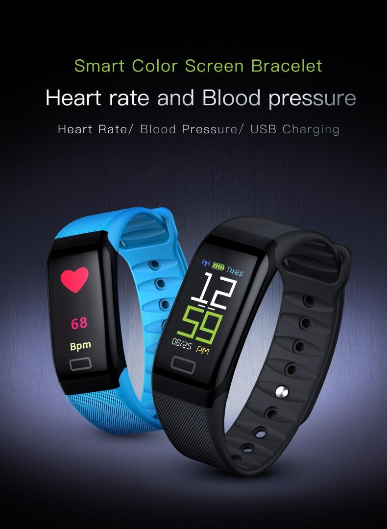 L8STAR R7 USB Charging Smart Wristband IP67 Waterproof Sleep Heart Rate  Fitness Tracker Smart Band Blood Pressure Bracelet
