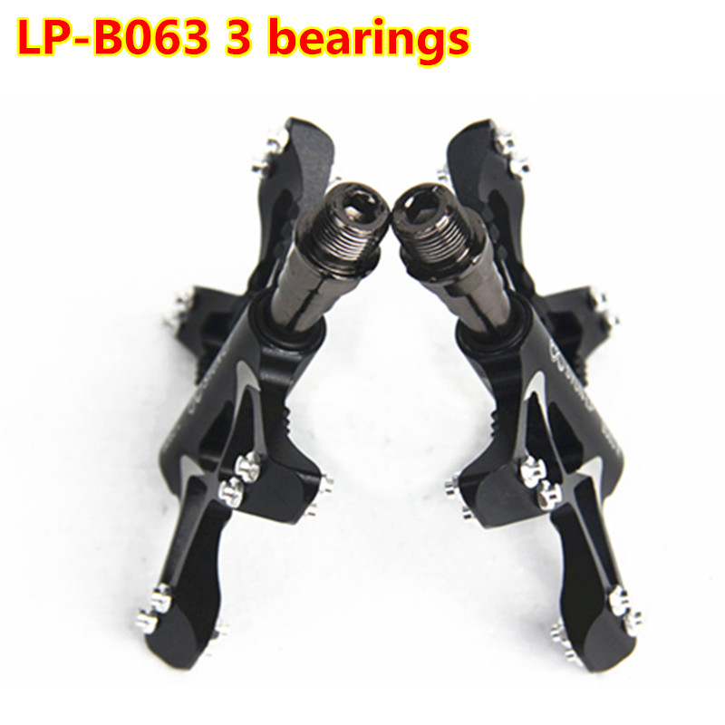 LP-B063 3 Bearings Bicycle Pedals Ultralight Mountain Bike Pedal Road Cycling Pedals Magnesium Flat Pedals Terrain Titanium rockbros bike mtb magnesium pedals platform cnc steel axle titanium axle magnesium ouriding bike parts platform bike pedal