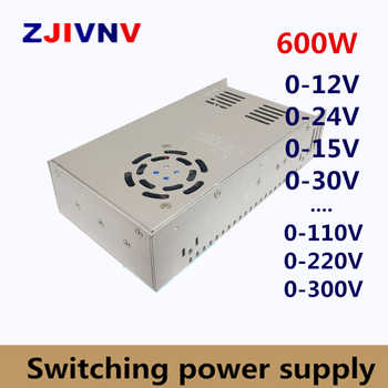 600W Switching Power Supply adjustable output voltage AC-DC 0-12V 15V 24V 36V 48V 50V 60V 72V 80V 110V 130V 220V 300V, 12V 50A - DISCOUNT ITEM  25% OFF All Category