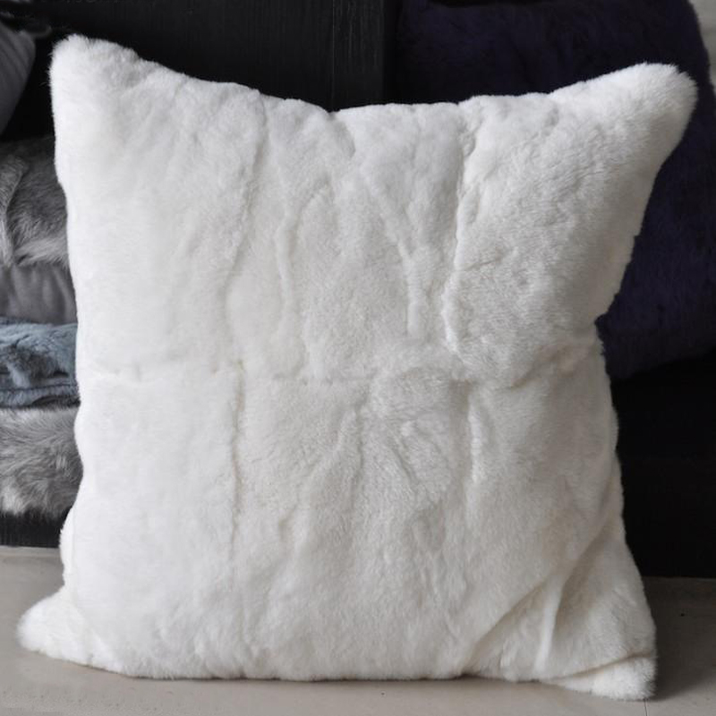 Compra almohada de piel de conejo online al por mayor de - Cojines para sofas de piel ...