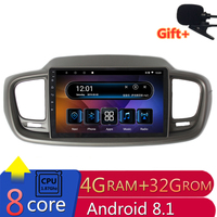 10 4G RAM 2.5D IPS 8 CORE Android 8.1 Car DVD Multimedia Player GPS for KIA sorento 2015 2016 2017 audio car radio navigation