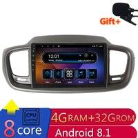10 4G ram 2.5D ips 8 CORE Android 8,1 автомобильный DVD мультимедийный плеер gps для KIA sorento 2015 2016 2017 аудио Автомагнитола