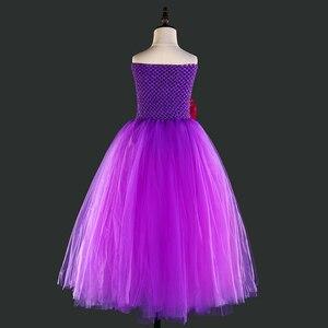 Image 5 - Purple Princess Girls Christmas Party Tutu Dress for Baby Beauty Fairy Kids Butterfly Flower Dresses Birthday Wedding Costume