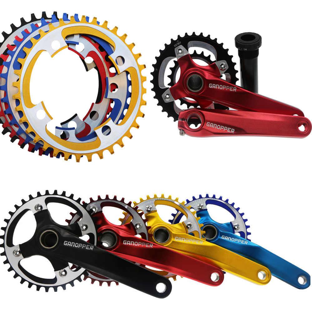 104BCD Bicycle MTB Bike Crank 175MM Crankset Axis Arm Chain Ring Sprocket CNC