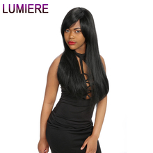 Lumiere Hair Peruvian Straight Hair Bundles 8-28inch Remy Human Hair Weaving 1 Piece Hair Weave Natural Color