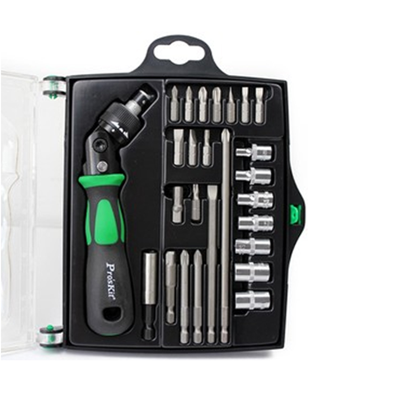 Original SD-2314M 25 In 1 Reversible Ratchet Magnetic Screwdriver W/Bits & Sockets Set Screwdriver Set pro skit sd 2314m 25 in 1 reversible ratchet screwdriver with bits
