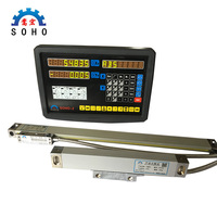 High Quality Cheap SOHO 2 2 Axis Milling Lathe DRO Digital Readout and 2 Pieces 0 1000mm Linear Scale