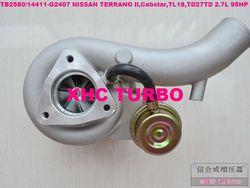 Nowy TB2580 703605 14411-G2407 Turbo turbosprężarka dla Nissan TERRANO II  Cabstar TL18  TD27TD 2.7L 95HP/125HP