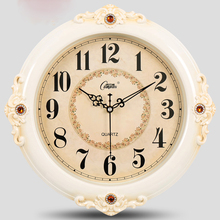 European Creative Home Double-sided Clock for Retro Silent Movement Wrought Iron Wall Living Room Bedroom 5K595