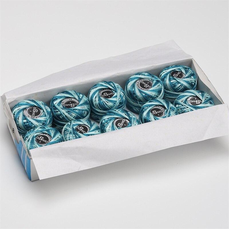 5 граммов размер, 8 жемчужных хлопковых нитей для вышивки крестиком, 43 ярдов на шарик, Двойной Мерсеризованный длинный штапельный хлопок, 10 шт./col - Цвет: 91