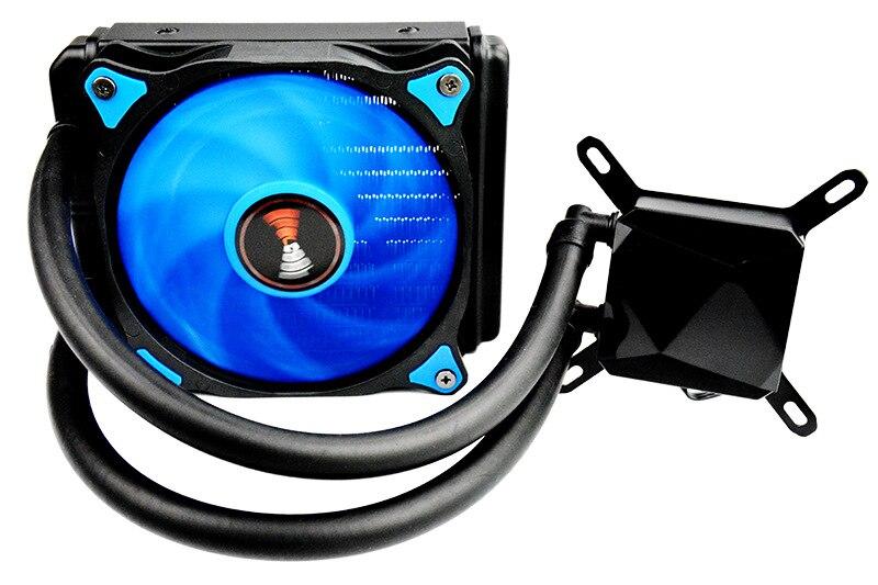 Ordinateur 12 V refroidisseur de processeur pompe de refroidissement à eau radiateur cuivre radiateur tube waterblock PC ventilateur contrôleur processeur i5 froid AM3 + AM4