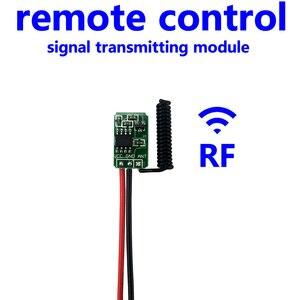 Image 3 - وحدة إرسال صغيرة وجهاز التحكم عن بعد RF 433 MHz صغيرة صغيرة الحجم 3.7 فولت 4.5 فولت 6 فولت 9 فولت 12 فولت ملحقات مفتاح طاقة لاسلكي للبطارية