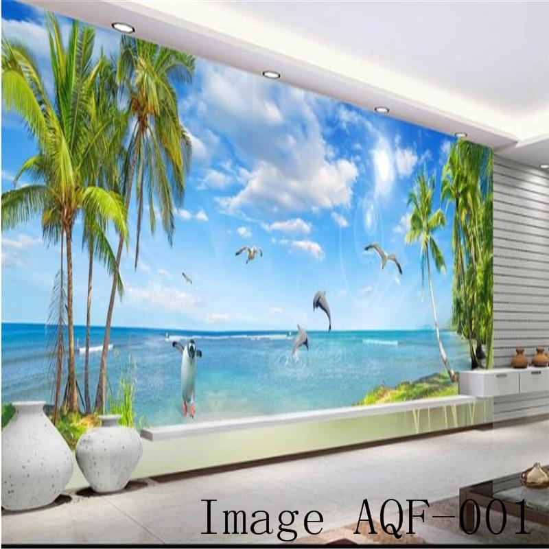 Beibehang пользовательские 3d обои огромный панорамный вид на море пейзаж гостиная Гавайи фреска гостиной диван ТВ стены