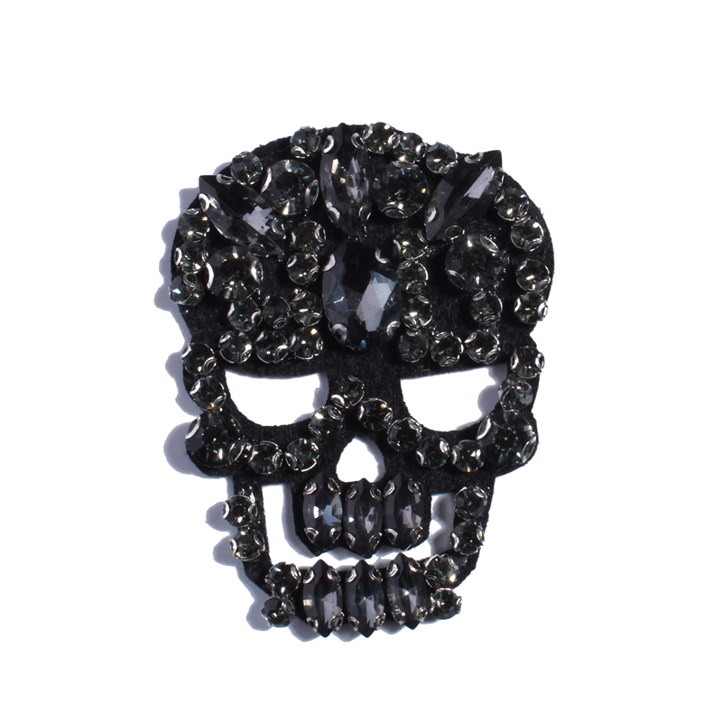Constructive 20pc 6.5cm Skull Rhinestone Appliques For Wedding Belt Rose Gold Crystal Beads Sew On Crystal Appliques Bridal Accessories Shoes Reliable Performance Arts,crafts & Sewing