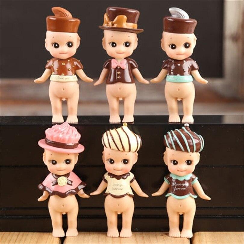 Высокое качество 6 шт./компл. 8 см пупс сынок ангел кукла комплект игрушка, Сынок ангел день святого валентина шоколад серии пвх рисунок куклы…