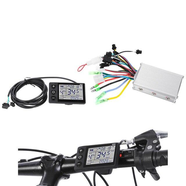 24 В-48 В 250 Вт 36 В-48 В 350 Вт бесщеточный Электрический велосипед контроллер с ЖК-дисплей Дисплей велосипед мотороллер контроллер