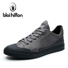 blaibilton Brand 2017 Men Shoes Casual Genuine Leather Flat Luxury Fashion Designer Brand Male Shoes Breathable Footwear SD7122