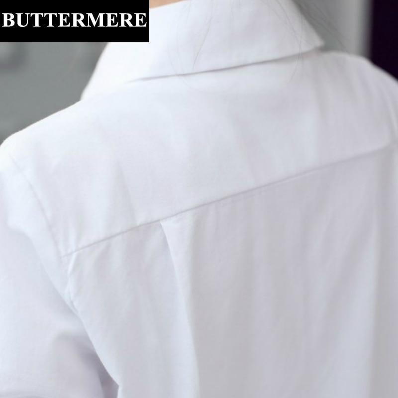 BUTTERMERE Brand Tøj Plus Størrelse Kvinder Hvid Bluse 4XL 5XL Stor - Dametøj - Foto 5