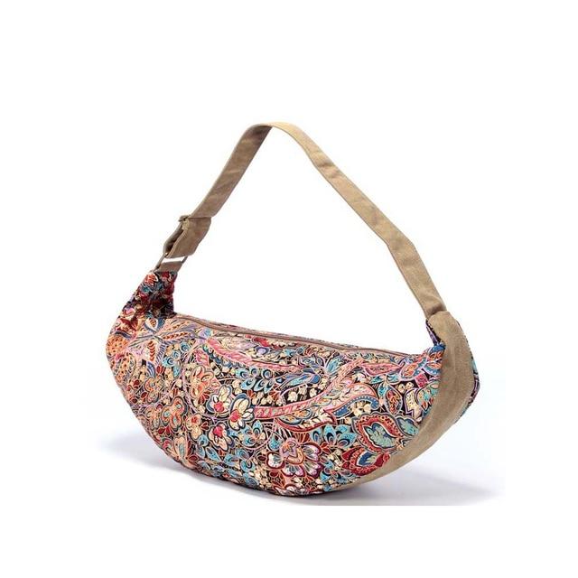 f9e82254102c 2017 New Canvas Women Shoulder Messenger Bag for Girls Ladies Zipper  Shoulder Folk Style Printing Pillow