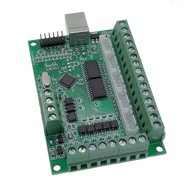 Placa de driver cnc usb mach3 100 khz breakout placa 5 eixo interface driver controlador movimento