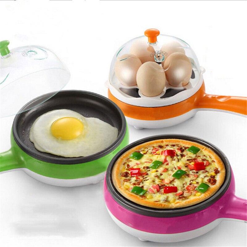 Multifunction household mini egg omelette Pancakes Fried Steak Electric Pan Non-Stick Boiled Egg 350w