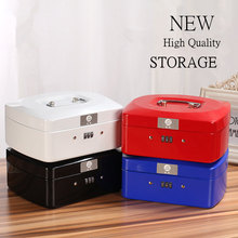 High Quality Password Iron Storage Box Table Debris Storage Box  Money/jewelry/Office Supplies