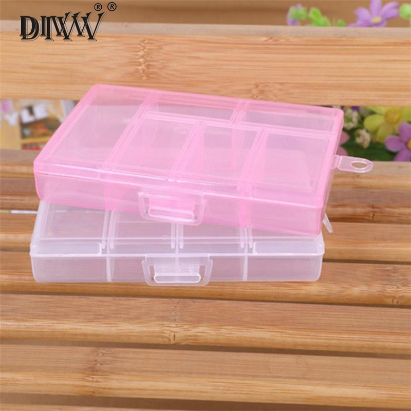 Storage Case Box Holder Container Pills Jewelry Nail Art Tips 6 Grids !1