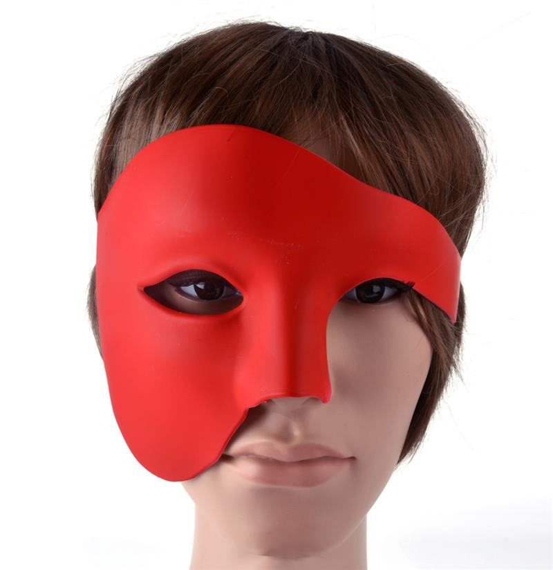 Image 5 - FunPa Venetion Mens Party Mask Half Face Phantom Of the Opera Mask Handsome Halloween Mardi Gras Mask Halloween Masquerade Mask-in Party Masks from Home & Garden