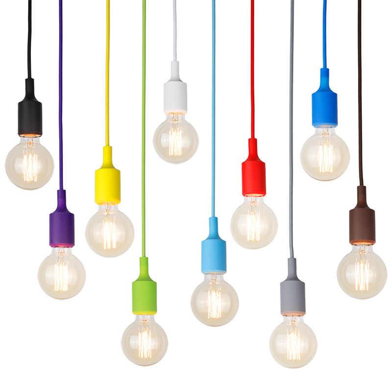 Wongshi لتقوم بها بنفسك تصميم قلادة ضوء لوفت E27 Hanglamp بريق lamvillage لمطعم المطبخ المنزل الإضاءة Abajur