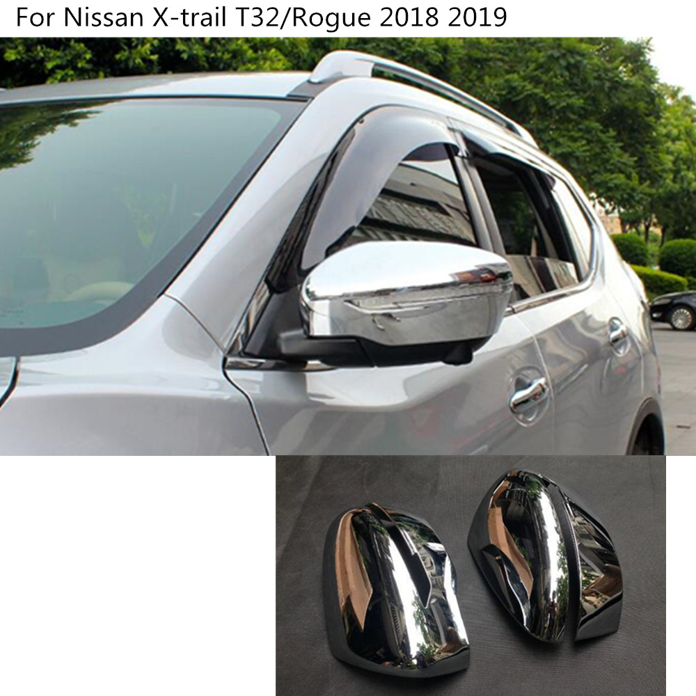 font b Car b font ABS chrome rear view Rearview Side glass font b Mirror